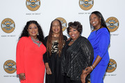 (L-R) Regina McCrary, Deborah McCrary, Ann McCrary and Alfreda McCrary of The McCrary Sisters attend the 2019 Country Music Hall of Fame Medallion Ceremony at Country Music Hall of Fame and Museum on October 20, 2019 in Nashville, Tennessee.
