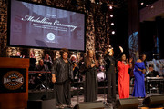 (L-R) Ann McCrary, Deborah McCrary, Regina McCrary and Alfreda McCrary of The McCrary Sisters and Reba McEntire (C) perform onstage during the 2019 Country Music Hall of Fame Medallion Ceremony at Country Music Hall of Fame and Museum on October 20, 2019 in Nashville, Tennessee.