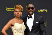 Ryan Michelle Bathe and Sterling K. Brown attend the 2019 Creative Arts Emmy Awards on September 15, 2019 in Los Angeles, California.
