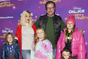 "(L-R) Finn Davey McDermott, Tori Spelling, Hattie Margaret McDermott, Dean McDermott, Beau Dean McDermott, and Stella Doreen McDermott attend 2019 Disney On Ice ""Mickey's Search Party"" at Staples Center on December 13, 2019 in Los Angeles, California."