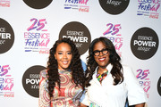 Angela Simmons and Thasunda Duckett speaks on stage at 2019 ESSENCE Festival Presented By Coca-Cola at Ernest N. Morial Convention Center on July 06, 2019 in New Orleans, Louisiana.