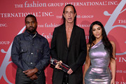 Kanye West, Rick Owens and Kim Kardashian West attend the 2019 FGI Night Of Stars Gala at Cipriani Wall Street on October 24, 2019 in New York City.