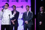 (L-R) Dan Levy, Annie Murphy, Noah Reid and Emily Hampshire on stage at the 2019 GLAAD Gala at Hyatt Regency in San Francisco on September 28, 2019 in San Francisco, California.