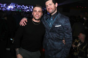 (L-R) Gus Kenworthy and Billy Eichner attend the 2019 GQ Men of the Year After Party Presented By Samsung  at The West Hollywood EDITION on December 05, 2019 in West Hollywood, California.