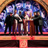 """Robert Downey Jr. Photos - Retransmission with alternate crop.) Marvel Studios' """"Avengers: Endgame"""" stars President of Marvel Studios/Producer Kevin Feige, Chris Hemsworth, Chris Evans, Robert Downey Jr., Scarlett Johansson, Jeremy Renner and Mark Ruffalo at the Hand And Footprint Ceremony at the TCL Chinese Theatre on April 23, 2019 in Hollywood, California. - 2019 Getty Entertainment - Social Ready Content"""