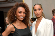 Retransmission with alternate crop.) (L-R) Janet Mock and Leona Lewis are seen as Marie Claire honors Hollywood's Change Makers on March 12, 2019 in Los Angeles, California.