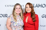 Jessie Ennis and Samantha Barry attend the 2019 Glamour Women Of The Year Awards at Alice Tully Hall on November 11, 2019 in New York City.