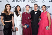 (L-R) Tobin Heath, Christen Press, Megan Rapinoe, Ali Krieger and Ashlyn Harris attend the 2019 Glamour Women Of The Year Awards at Alice Tully Hall on November 11, 2019 in New York City.