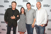"""(L-R) Alec Baldwin, Waad al-Kateab, Hamza Al Kateab and Edward Watts attend Conflict and Resolution Screening - """"For Sama"""" during the 2019 Hamptons International Film Festival on October 13, 2019 in East Hampton, New York."""