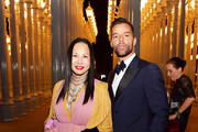 (L-R) Eva Chow and Ricky Martin, both wearing Gucci, attend the 2019 LACMA Art + Film Gala Presented By Gucci at LACMA on November 02, 2019 in Los Angeles, California.