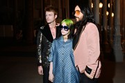 (L-R) Finneas O'Connell, Billie Eilish, and Jared Leto, all wearing Gucci, attend the 2019 LACMA Art + Film Gala Presented By Gucci at LACMA on November 02, 2019 in Los Angeles, California.