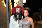 (L-R) Alessandro Michele and Salma Hayek Pinault, both wearing Gucci, attend the 2019 LACMA Art + Film Gala Presented By Gucci at LACMA on November 02, 2019 in Los Angeles, California.