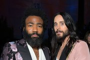 (L-R) Donald Glover and Jared Leto, both wearing Gucci, attend the 2019 LACMA Art + Film Gala Presented By Gucci at LACMA on November 02, 2019 in Los Angeles, California.