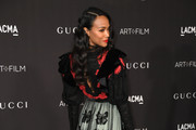 Zoe Saldana attends the 2019 LACMA 2019 Art + Film Gala Presented By Gucci on November 02, 2019 in Los Angeles, California.