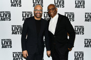 Jeffrey Wright and Bill T. Jones attend the 2019 Live Arts Gala at The Caldwell Factory on March 25, 2019 in New York City.