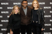 (L-R) Founder & Executive Producer, MAKERS Dyllan McGee, CEO, Verizon Media Guru Gowrappan and Gloria Steinem attend The 2019 MAKERS Conference at Monarch Beach Resort on February 6, 2019 in Dana Point, California.