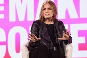 Gloria Steinem speaks onstage during The 2019 MAKERS Conference at Monarch Beach Resort on February 6, 2019 in Dana Point, California.