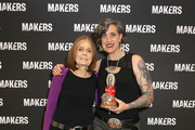 Gloria Steinem (L) and Nadia Bolz-Weber attend The 2019 MAKERS Conference at Monarch Beach Resort on February 7, 2019 in Dana Point, California.