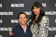 Editor in Chief, HuffPost Lydia Polgreen (L) and Founder, @I_Weigh Jameela Jamil attend The 2019 MAKERS Conference at Monarch Beach Resort on February 7, 2019 in Dana Point, California.