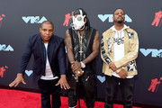 (L-R) Vin Rock, Treach, and DJ Kay Gee of Naughty By Nature attend the 2019 MTV Video Music Awards at Prudential Center on August 26, 2019 in Newark, New Jersey.
