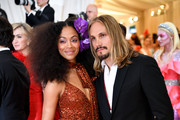 Zoe Saldana and Marco Perego attend The 2019 Met Gala Celebrating Camp: Notes on Fashion at Metropolitan Museum of Art on May 06, 2019 in New York City.