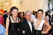 (L-R) Diana Taylor, Michael Bloomberg, and Georgina Bloomberg attend The 2019 Met Gala Celebrating Camp: Notes on Fashion at Metropolitan Museum of Art on May 06, 2019 in New York City.