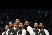 Members of Team LeBron watch play from the bench in the third quarter during the NBA All-Star game as part of the 2019 NBA All-Star Weekend at Spectrum Center on February 17, 2019 in Charlotte, North Carolina.  NOTE TO USER: User expressly acknowledges and agrees that, by downloading and/or using this photograph, user is consenting to the terms and conditions of the Getty Images License Agreement. Mandatory Copyright Notice: Copyright 2019 NBAE
