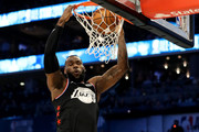 LeBron James #23 of the LA Lakers and Team LeBron dunks against Team Giannis in the first quarter during the NBA All-Star game as part of the 2019 NBA All-Star Weekend at Spectrum Center on February 17, 2019 in Charlotte, North Carolina.  NOTE TO USER: User expressly acknowledges and agrees that, by downloading and/or using this photograph, user is consenting to the terms and conditions of the Getty Images License Agreement.
