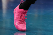 A shoe worn by Kevin Durant #35 of the Golden State Warriors and Team LeBron is seen during the NBA All-Star game as part of the 2019 NBA All-Star Weekend at Spectrum Center on February 17, 2019 in Charlotte, North Carolina. NOTE TO USER: User expressly acknowledges and agrees that, by downloading and/or using this photograph, user is consenting to the terms and conditions of the Getty Images License Agreement.