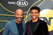 (L-R) Jeffrey Wright and Elijah Wright attends the 2019 NBA Awards presented by Kia at Barker Hangar on June 24, 2019 in Santa Monica, California.