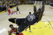 Draymond Green #23 of the Golden State Warriors dunks the ball against the Toronto Raptors during Game Six of the 2019 NBA Finals at ORACLE Arena on June 13, 2019 in Oakland, California. NOTE TO USER: User expressly acknowledges and agrees that, by downloading and or using this photograph, User is consenting to the terms and conditions of the Getty Images License Agreement.