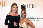 Camille A. Brown and  Sarah Arison attend 2019 National YoungArts Foundation Backyard Ball Performance And Gala on January 12, 2019 in Miami, Florida.