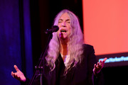 Patti Smith speaks on stage during the 2019 New Yorker Festival on October 11, 2019 in New York City.