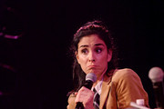 Sarah Silverman speaks onstage during a talk with Andrew Marantz at the 2019 New Yorker Festival on October 12, 2019 in New York City.