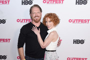 Kathy Griffin (R) and Peter Perkowski arrive at the 2019 Outfest Los Angeles LGBTQ Film Festival Screening Of 'Kathy Griffin: A Hell Of A Story' at Ford Theatre on July 25, 2019 in Hollywood, California.
