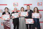 Jennifer Egan, Richard Robinson, Hilaria Baldwin, Alec Baldwin and Suzanne Nossel attend the 2019 PEN America Literary Gala  at American Museum of Natural History on May 21, 2019 in New York City.