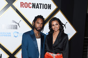 Miguel (L) and Nazanin Mandi arrive at the 2019 Roc Nation THE BRUNCH on February 09, 2019 in Los Angeles, California.