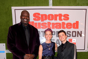 2019 Shaquille O'Neal, Professional Soccer Player Megan Rapinoe, Sports Illustrated Kids SportsKid of the Year, Ally Sentnor and Noah Schnapp attend the 2019 Sports Illustrated Sportsperson Of The Year at The Ziegfeld Ballroom on December 09, 2019 in New York City.