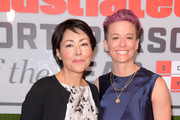 Journalist Ann Curry and Professional Soccer Player Megan Rapinoe attend the 2019 Sports Illustrated Sportsperson Of The Year at The Ziegfeld Ballroom on December 09, 2019 in New York City.