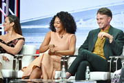 "Jessica Camacho, Simone Missick and Wilson Bethel of ""All Rise"" speak during the CBS segment of the 2019 Summer TCA Press Tour at The Beverly Hilton Hotel on August 1, 2019 in Beverly Hills, California."