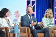 Shannen Doherty, Ian Ziering and Jennie Garth of BH 90210 speak during the Fox segment of the 2019 Summer TCA Press Tour at The Beverly Hilton Hotel on August 7, 2019 in Beverly Hills, California.
