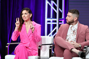 Shoshannah Stern and Josh Feldman of 'This Close' sign during the AMC segment of the Summer 2019 Television Critics Association Press Tour 2019 at The Beverly Hilton Hotel on July 25, 2019 in Beverly Hills, California.