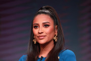 Shay Mitchell of 'Dollface' speaks onstage during the Hulu segment of the Summer 2019 Television Critics Association Press Tour at The Beverly Hilton Hotel on July 26, 2019 in Beverly Hills, California.