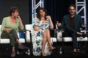 (L-R) Alexandra Billings, Amy Landecker and Jay Duplass of 'Transparent' speak onstage during the Amazon Prime Video segment of the Summer 2019 Television Critics Association Press Tour at The Beverly Hilton Hotel on on July 27, 2019 in Beverly Hills, California.