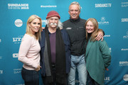 """(L-R) Cheryl Hines, David Crosby, Robert Kennedy Jr., and Jan Dance attend the """"Anthropocene: The Human Epoch"""" Premiere during the 2019 Sundance Film Festival at Temple Theater on January 25, 2019 in Park City, Utah."""