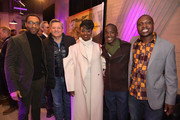 "(L-R) Chiwetel Ejiofor, Netflix Chief Content Officer Ted Sarandos, Aissa Maiga, Maxwell Simba, and William Kamkwamba attend ""The Boy Who Harnessed The Wind"" Pre-Screening Reception"" during the 2019 Sundance Film Festival at Pierpont Place on January 25, 2019 in Salt Lake City, Utah."