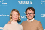 """Mia Wasikowska (L) and Damon Herriman attend the Judy & Punch"""" Premiere during the 2019 Sundance Film Festival at The Ray on January 27, 2019 in Park City, Utah."""