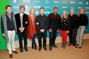 "(L-R) Executive producers Thomas Lesinski and Win Rosenfeld, Amazon Studios chief Jennifer Salke, director and executive producer Joshua Rofe, executive producer Jordan Peele, film subject Lorena Gallo, and executive producers Steven J. Berger and Jenna Santoianni attend the ""Lorena"" Premiere during the 2019 Sundance Film Festival  at Egyptian Theatre on January 29, 2019 in Park City, Utah."