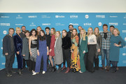"Shea Whigham, Madisen Beaty, Malin Akerman, Heather McIntosh, Kara Hayward, Lucas Zumann, Liana Liberato, Martha Stephens, Lauren Ashley Stephenson, Sophia Bairley, Jordana Spiro, Kristin Mann, Laura Smith, Adelaide Clemens, and Tony Hale attend the ""To The Stars"" during the 2019 Sundance Film Festival at The Ray on January 25, 2019 in Park City, Utah."