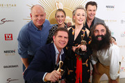 Gold Logie nominees Tom Gleeson, Costa Georgiadis, Amanda Keller, Eve Morey, Sam Mac and Rodger Corser pose during the 2019 TV WEEK Logie Awards Nominations Party at The Star Gold Coast on May 26, 2019 in Gold Coast, Australia.